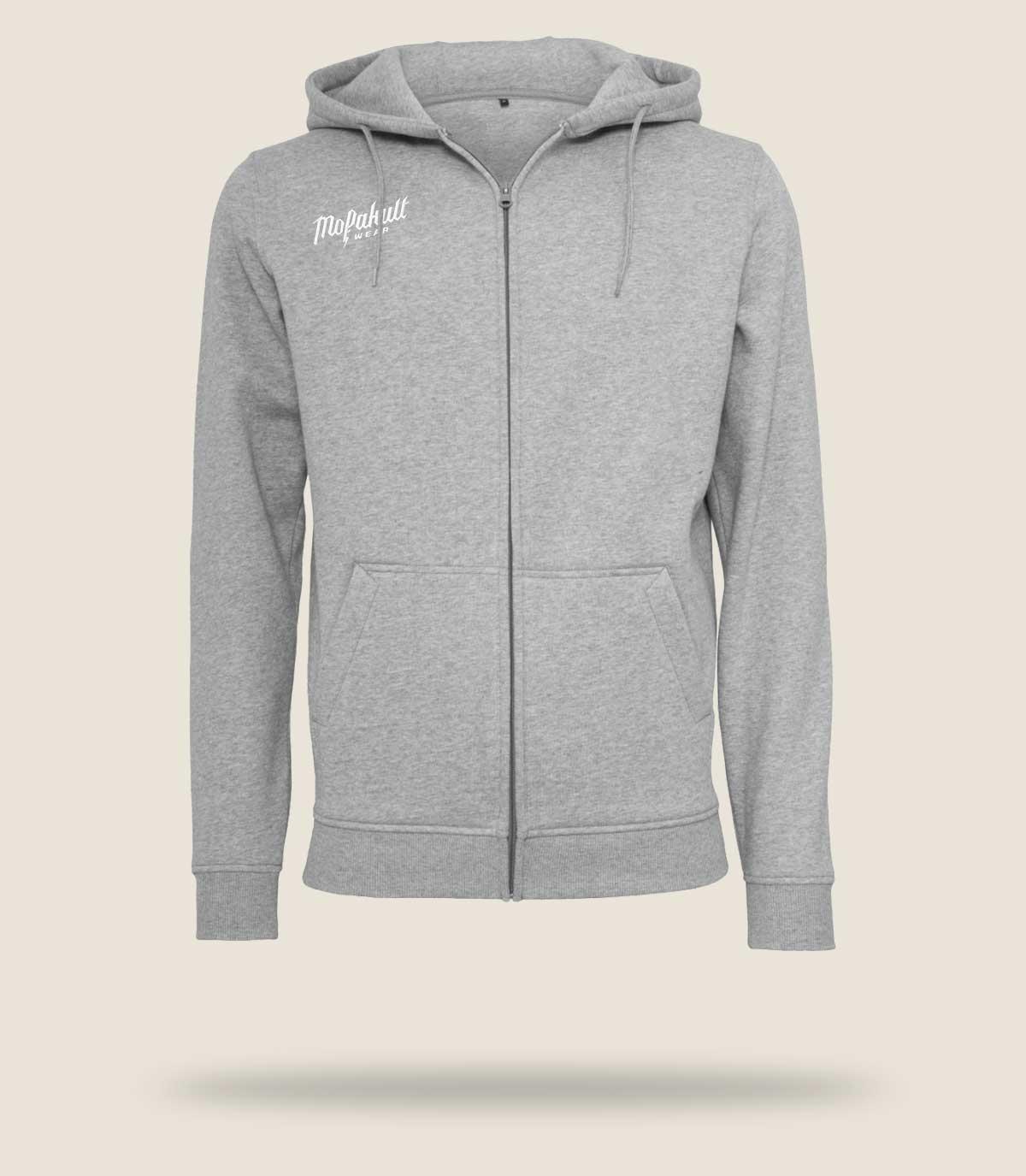 Mofakultwear Man Zip Hoodie Grey